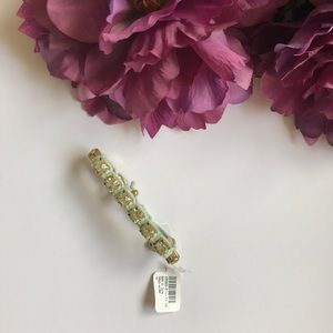 NWT large crystals, mint green and gold bracelet